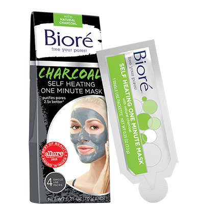 Charcoal Face Mask – Self Heating One Minute Mask | Bioré® Skincare